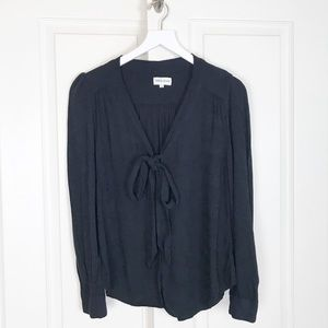Anthropologie Pepaloves TieNeck Embroidered Blouse